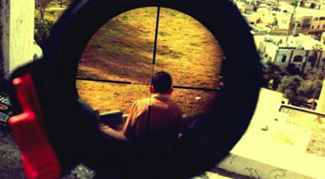 Israeli Sniper Rifle Palestinian Child Crosshairs