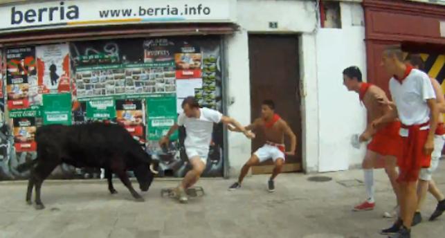 Man Trampled By Bull Taking Selfie