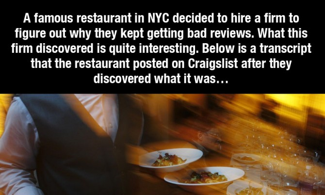 New York Restaurant Sucked