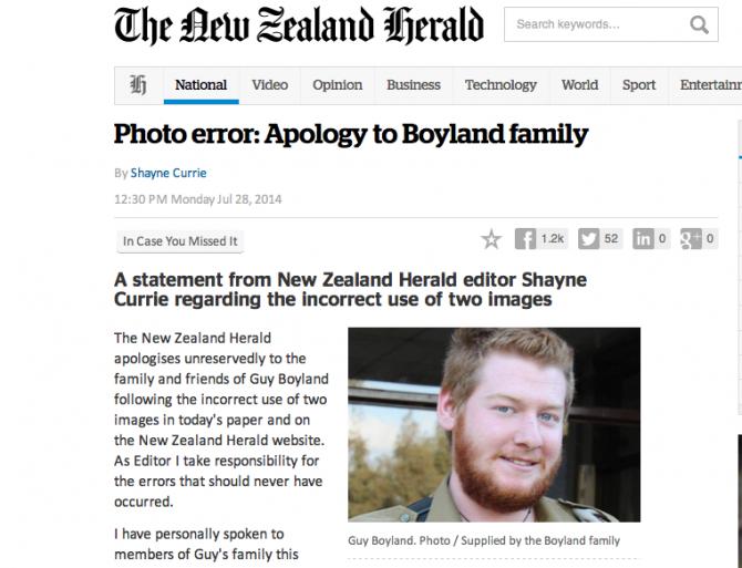 New Zealond Apology