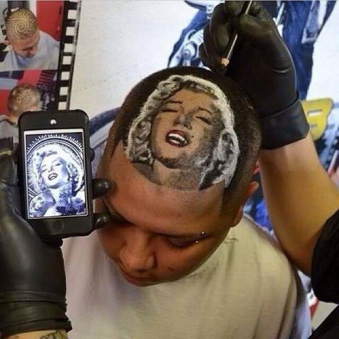 would you like steve jobs� face shaved into your head