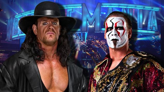 The Undertaker Sting Wrestle mania