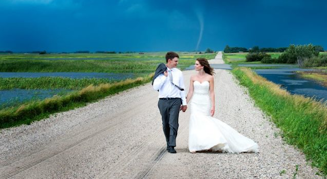 Tornado Wedding Pictures Featured