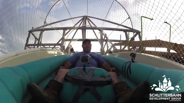 World's Tallest Waterslide Tested By Humans