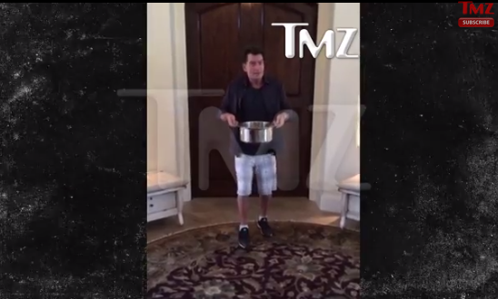 Charlie Sheen Ice Bucket