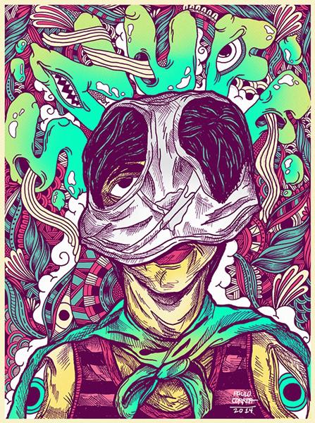 Chuck Palahniuk Gig Posters 1