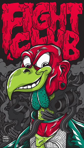 Chuck Palahniuk Gig Posters 3