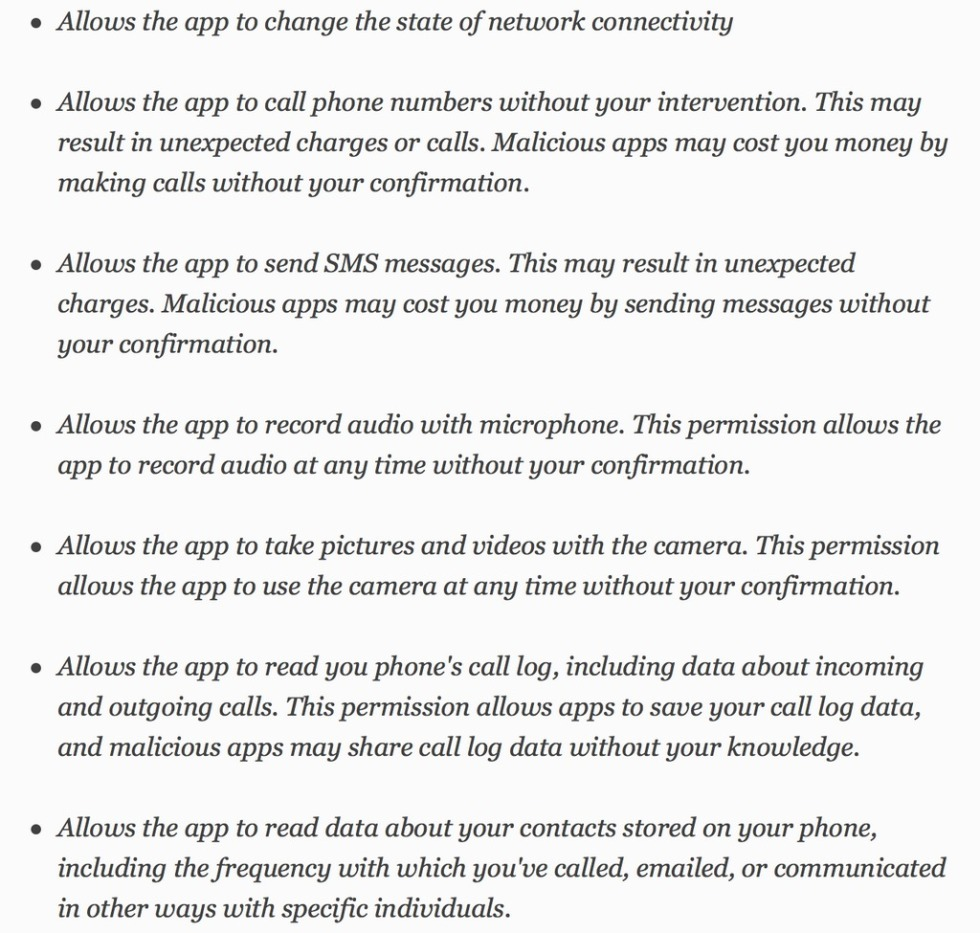 Facebook Messenger App Conditions