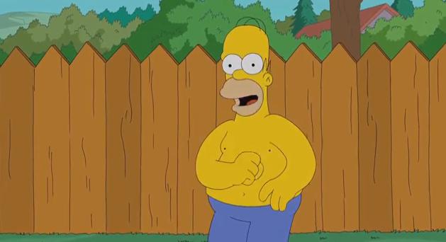 Homer Simpson Ice Bucke Challenge