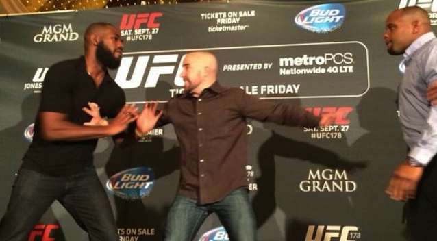 Jon Jones Daniel Cormier Brawl