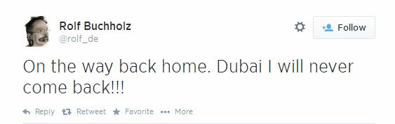 Rolf Buchholz - tweet Dubai
