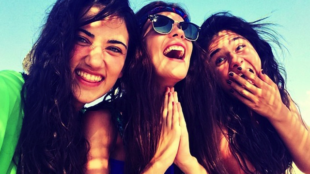 Turkish Women Laughing Selfies
