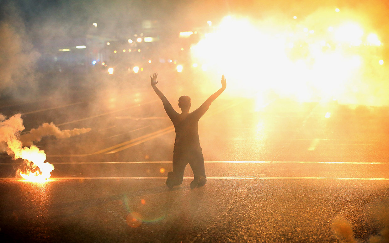 Ferguson Protestors Gassed
