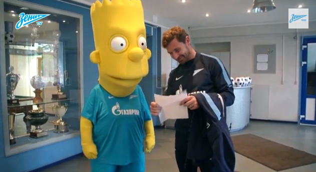 Bart Simpson Signs Zenit St Petersburg