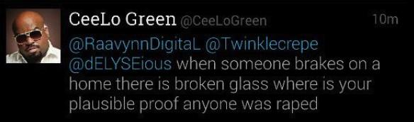 CeeLo Green Rape Tweet 2