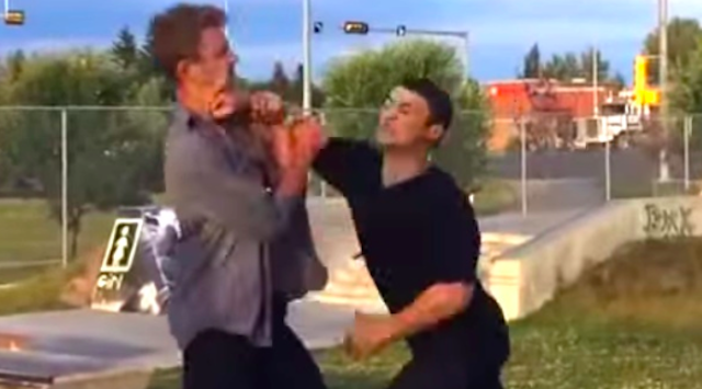 Drunk Guy Gets Into Fight; Gets Taken Down