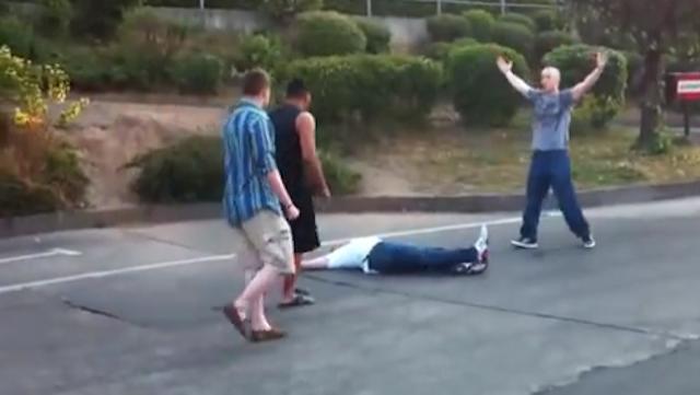 Drunk Guy KOed One Punch