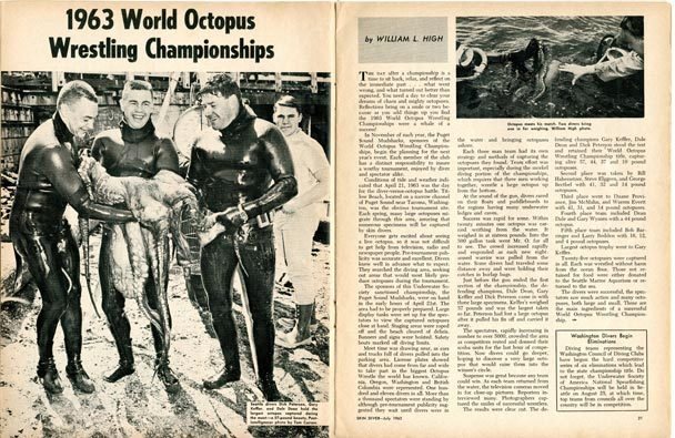 Giant Octopus Wrestling - Gary Keffler newspaper cutting