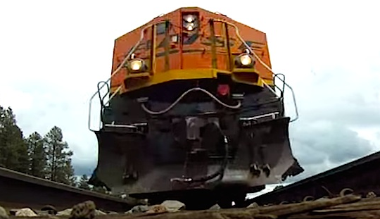 Go Pro Camera Underneath Train