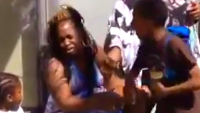 Kid Slaps Junkie Mother