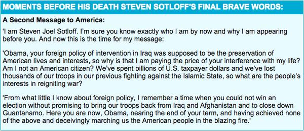 Steven Sotloff Message