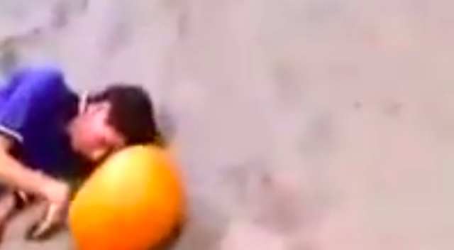 Teens Throw Pumpkins At Unconscious Man