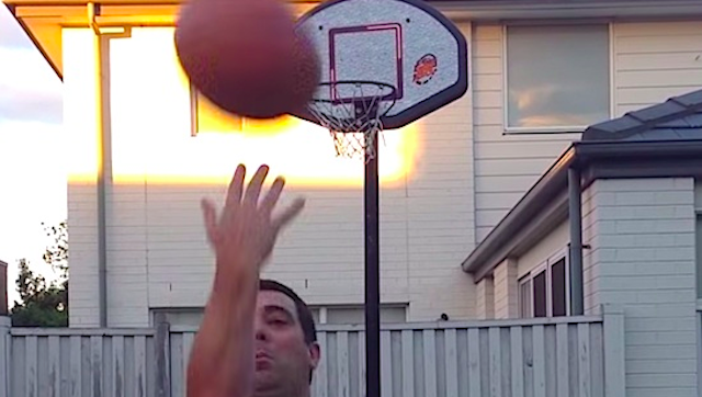 Unbelievably Flukey Basketball Shot