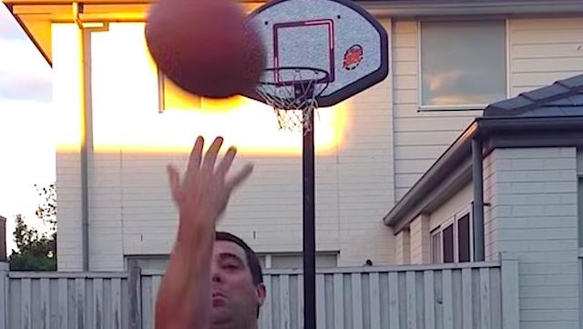 Unbelievably Flukey Basketball Shot
