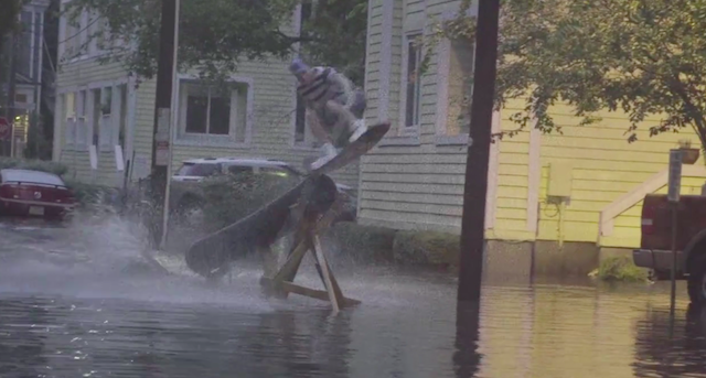 Wakeboarding Flooded City Streets