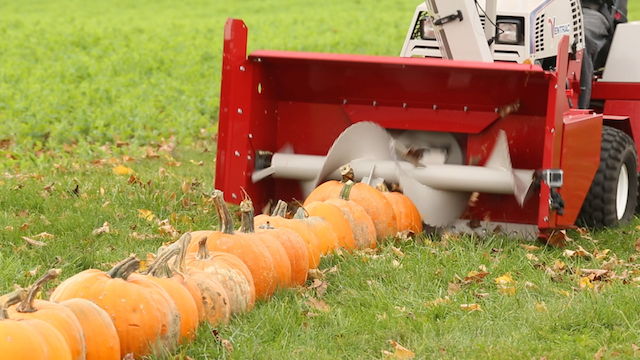 100 Pumpkins Vs Snow Blower
