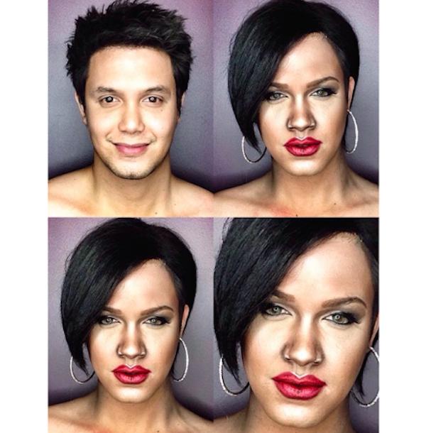 Celebrity Makeup Transformations 7