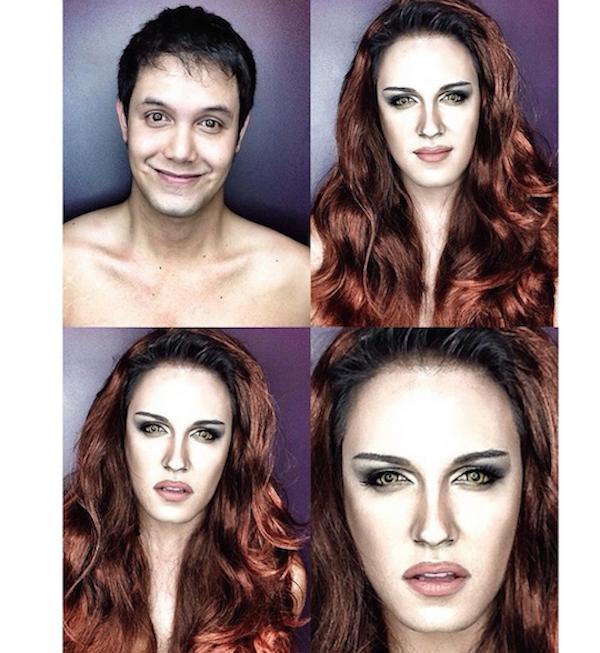 Celebrity Makeup Transformations 8