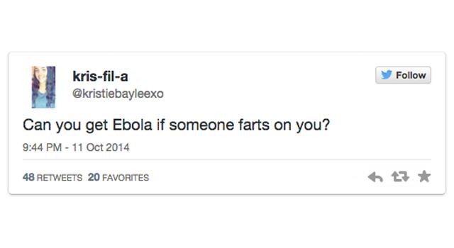Ebola Tweet