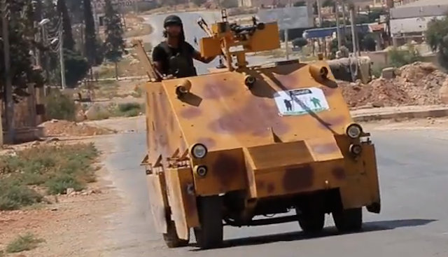 Free Syrian Army Homemade Tank