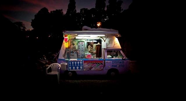 Glasgow Ice Cream Van war -fire
