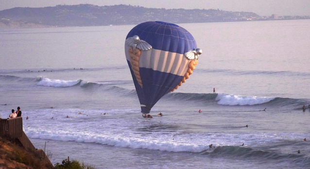 Hot Air Balloon Crashes Sea