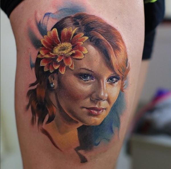 Valentina Ryabova - Girl with flower
