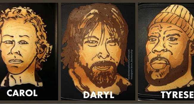 Walking Dead Pancake Art