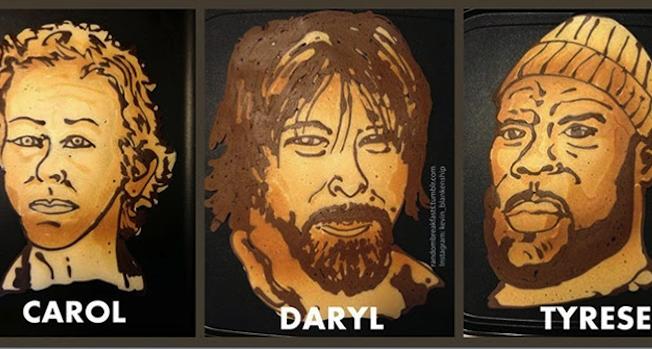 Walking Dead Pancake Art