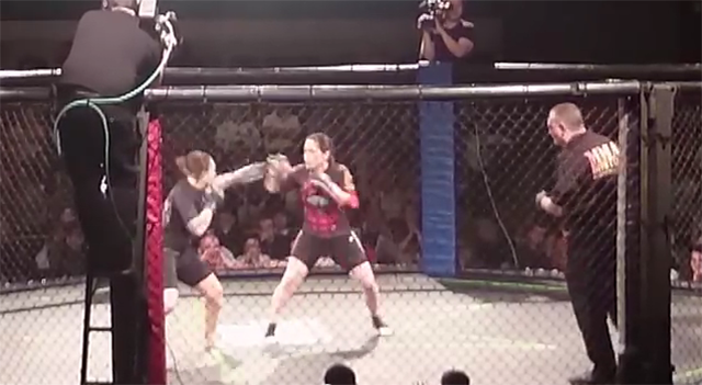 Ufc knockout kick off cage