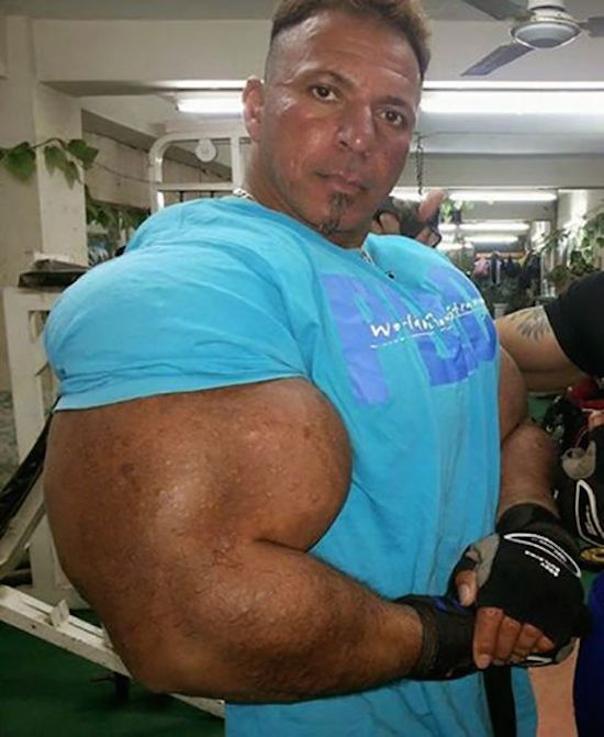 synthol and steroid bodybuilder 20