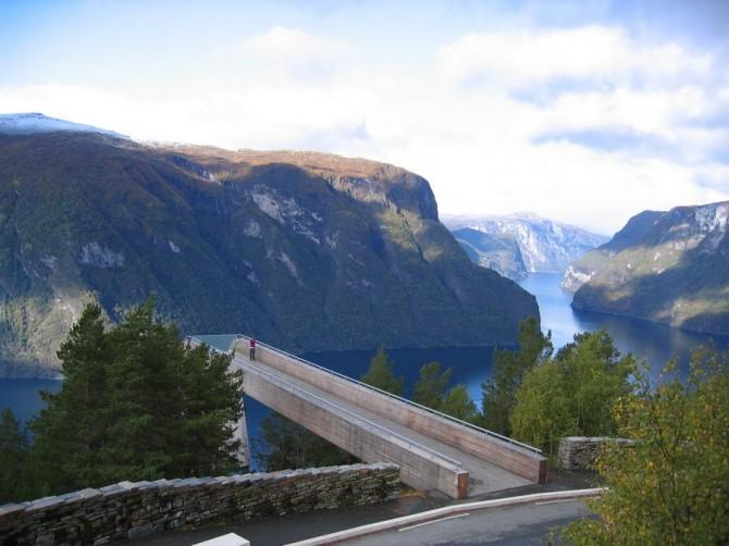 Awesome Look Out Spots - Near Aurlandsvangen, Aurlandsfjorden, Sogn Og Fjordane, Norway