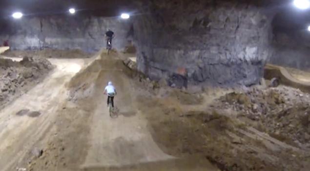 Biking Underground Cavern