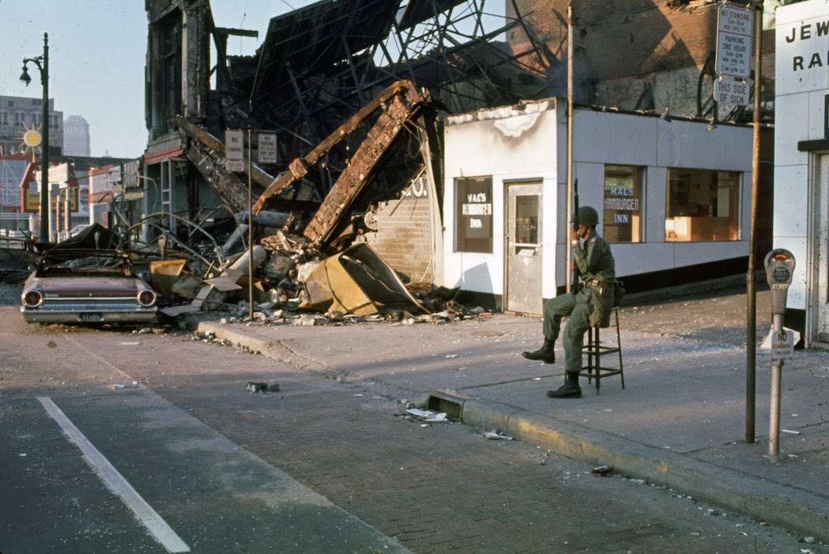 National Guardsman During Detroit Riots