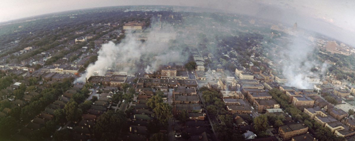 Detroit Burning During Riots