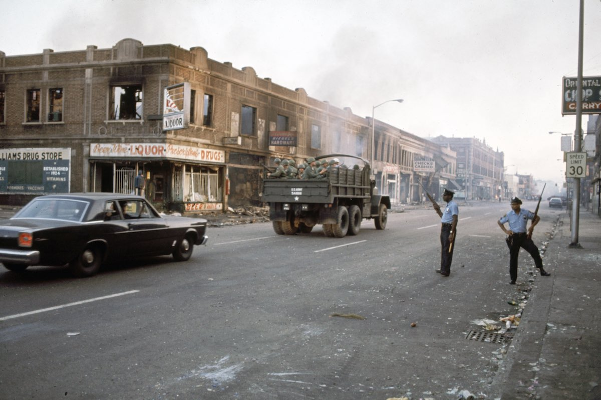 Police During Detroit Riots