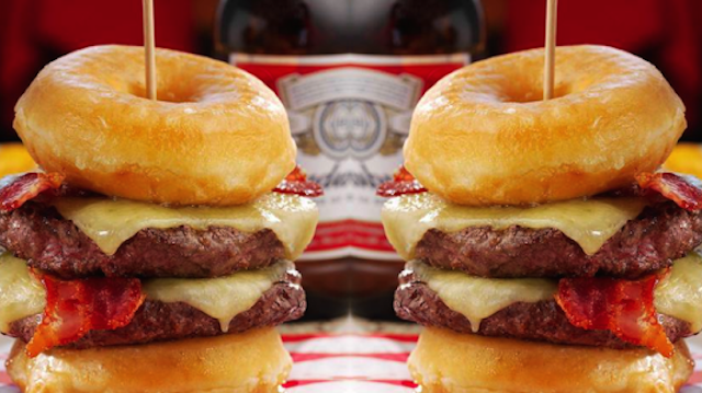 Double Donut Burger Featured