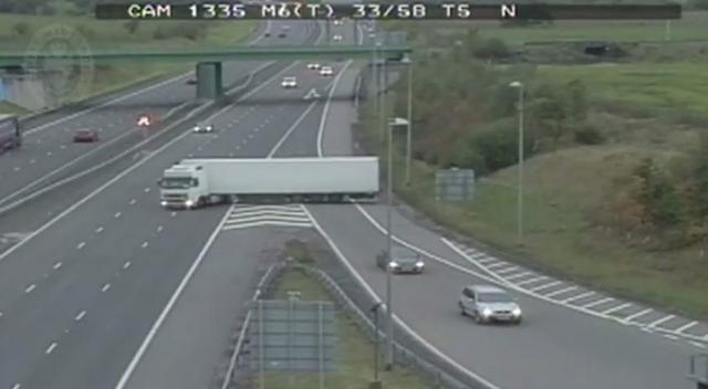 Lorry U Turn Motorway