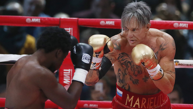 Mickey Rourke Boxing Match