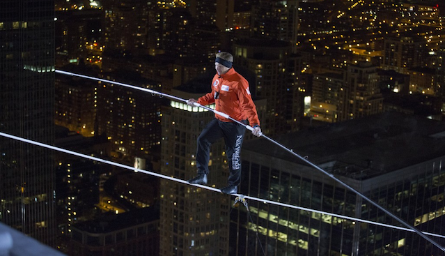 Nik Wallenda Tightrope Chicago